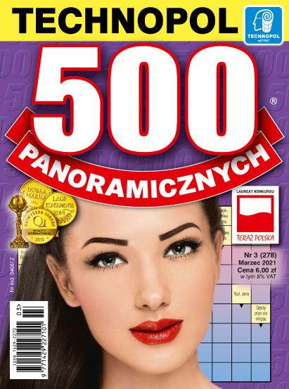 Krzyżówki Technopol 500 panoramicznych nr 3, 2021
