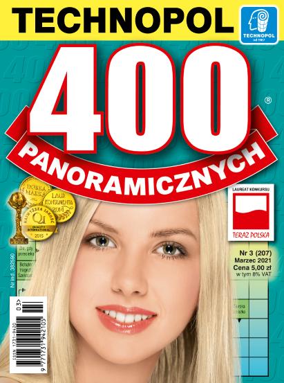 Krzyżówki Technopol 400 panoramicznych nr 3, 2021