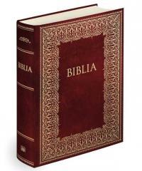 Biblia domowa. Bordowa ze złoceniami